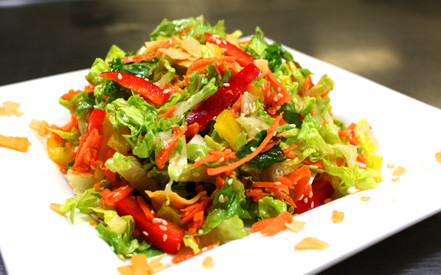 asian salad at juice junkies