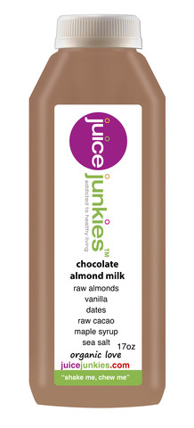 juice junkies chocolate almond milk