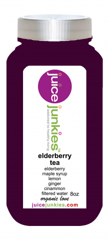 elderberry tea bottle