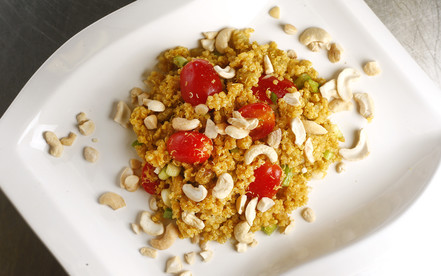 quinoa salad with curry vinaigrette