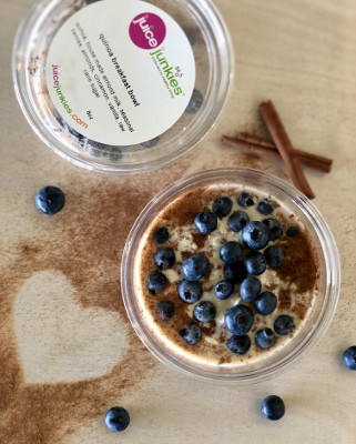 acai bowl with blueberries